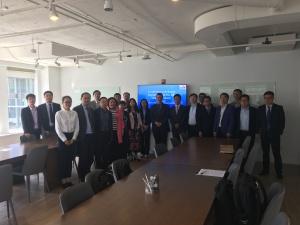 May 10, 2019: Jason Dickstein meets with faculty from the Zhengzhou University of Aeronautics